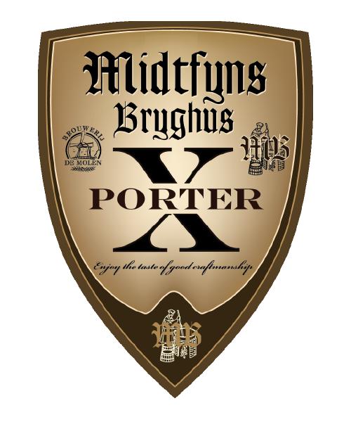 Sort kraftig og lækker porter øl